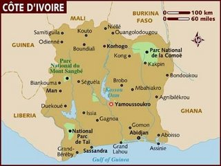 コートジボワール共和国 地図 西アフリカ.jpg